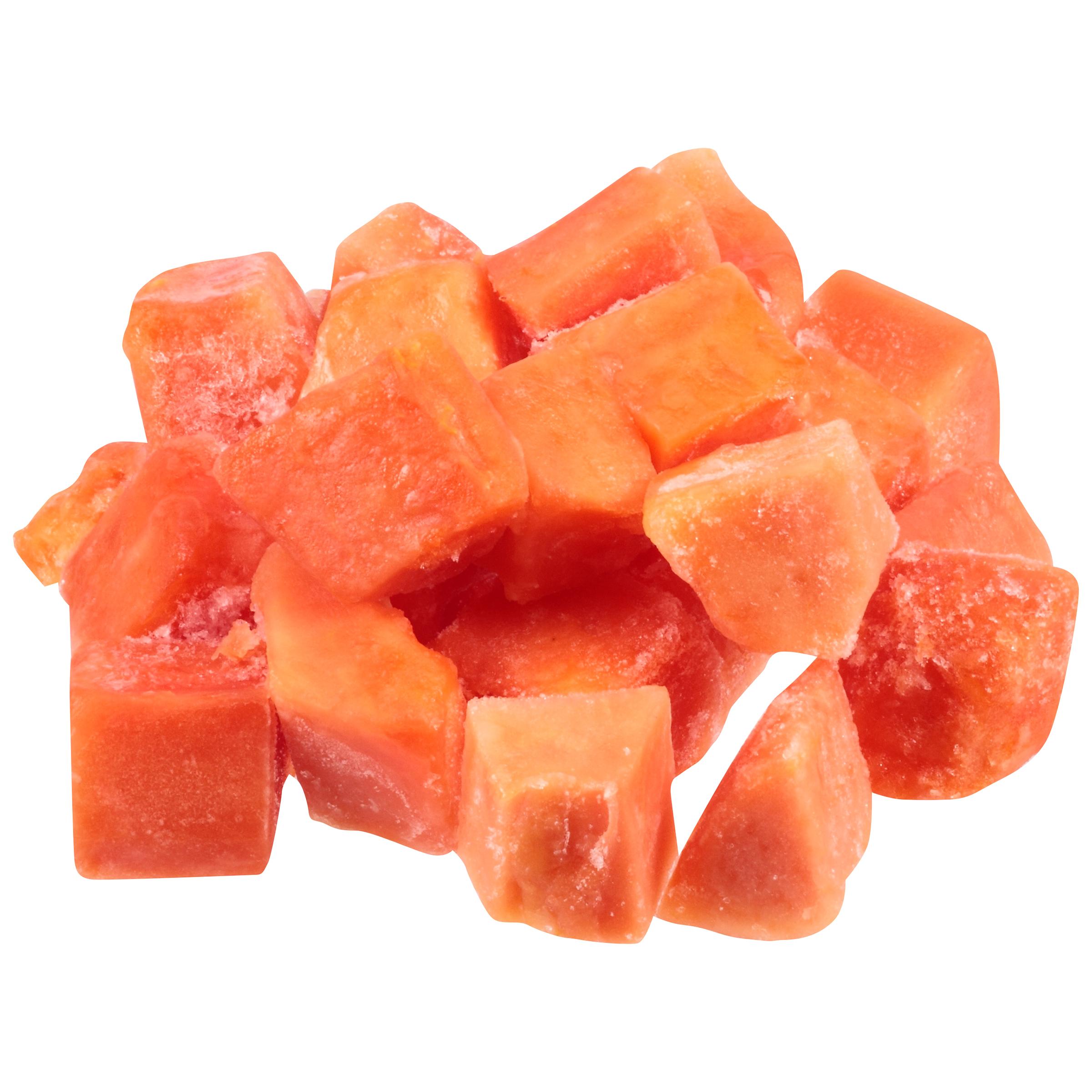 1/30# Papaya Chunks IQF