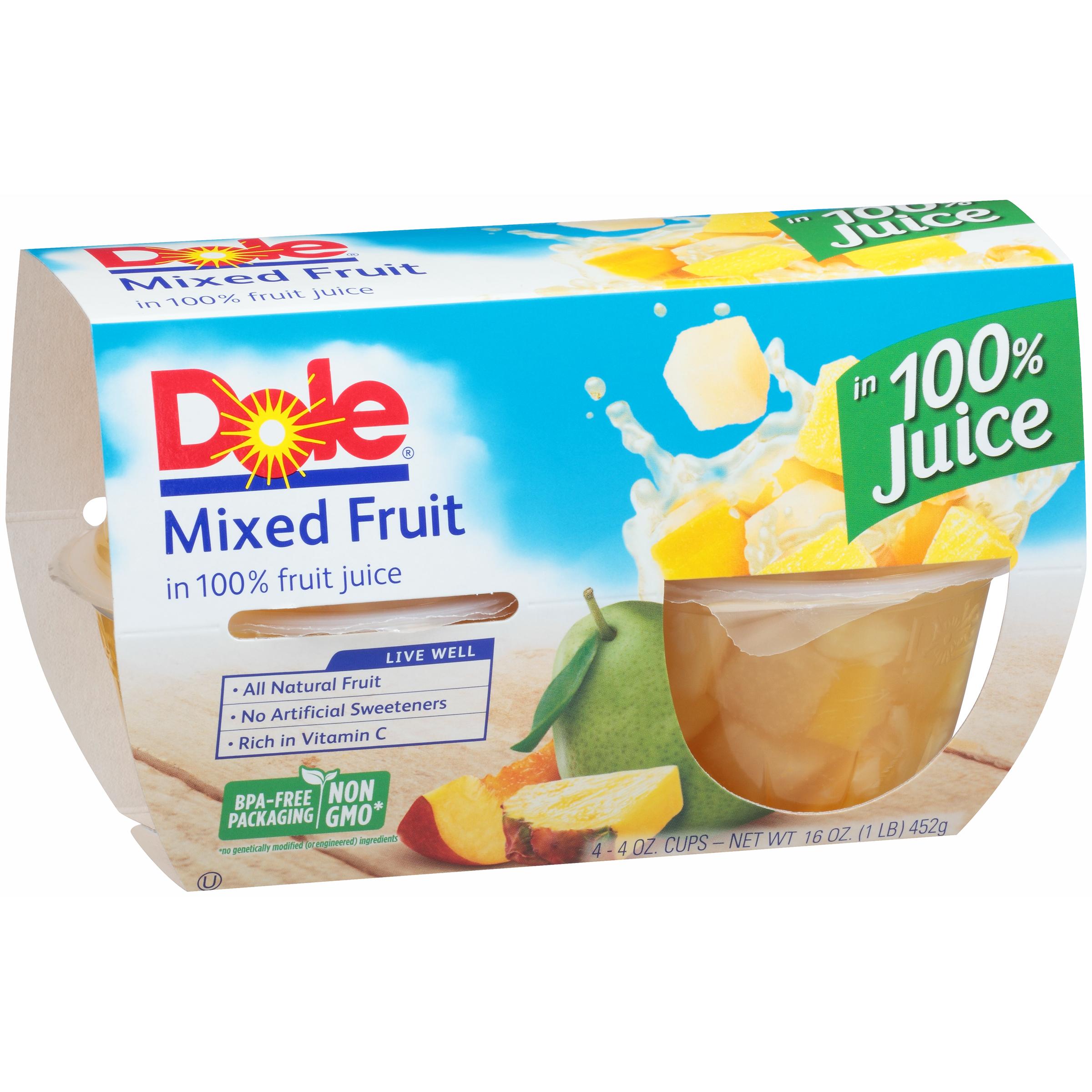 6/4 Pk/4 Oz. Mixed Fruit In Jce
