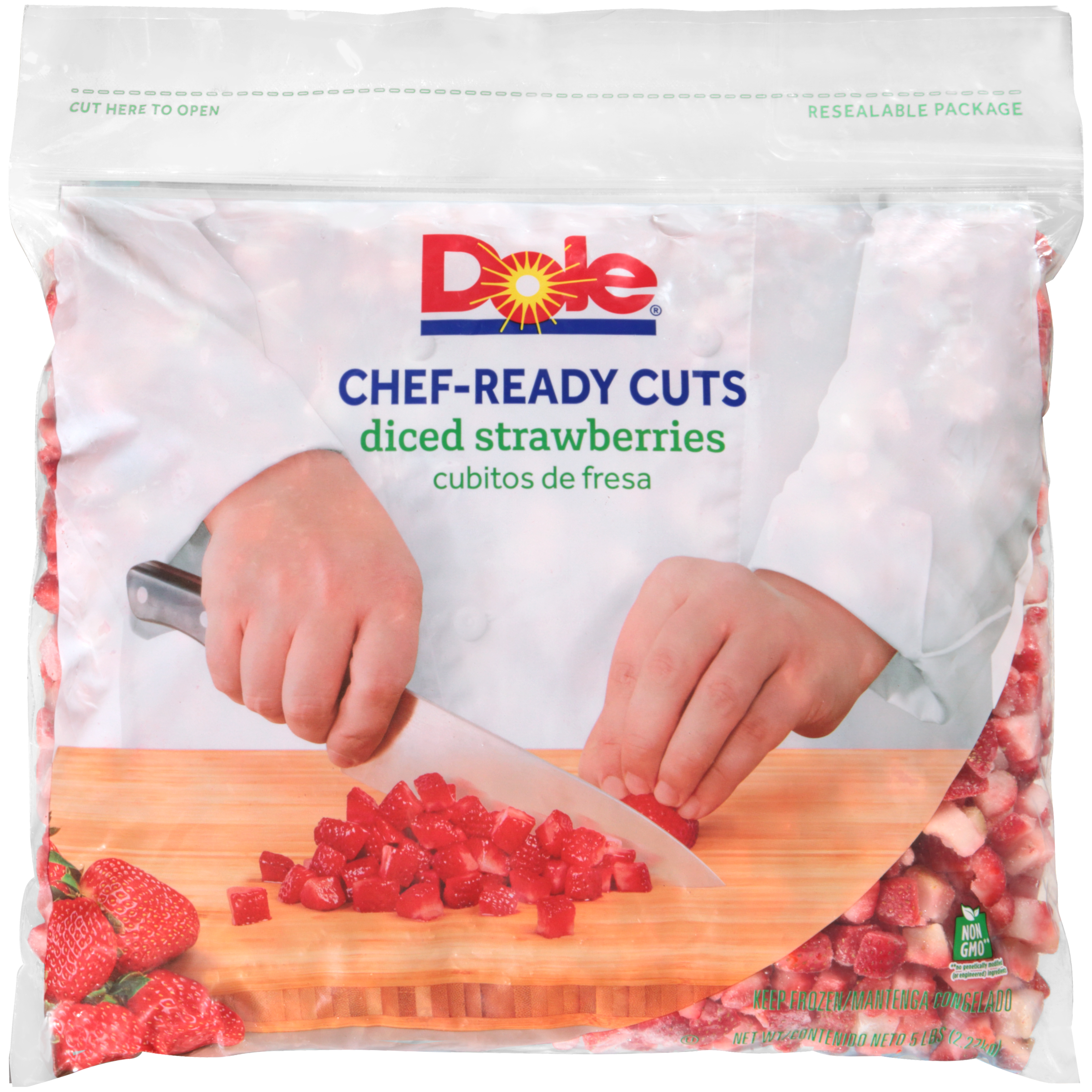 2/5# Diced Strawberry IQF