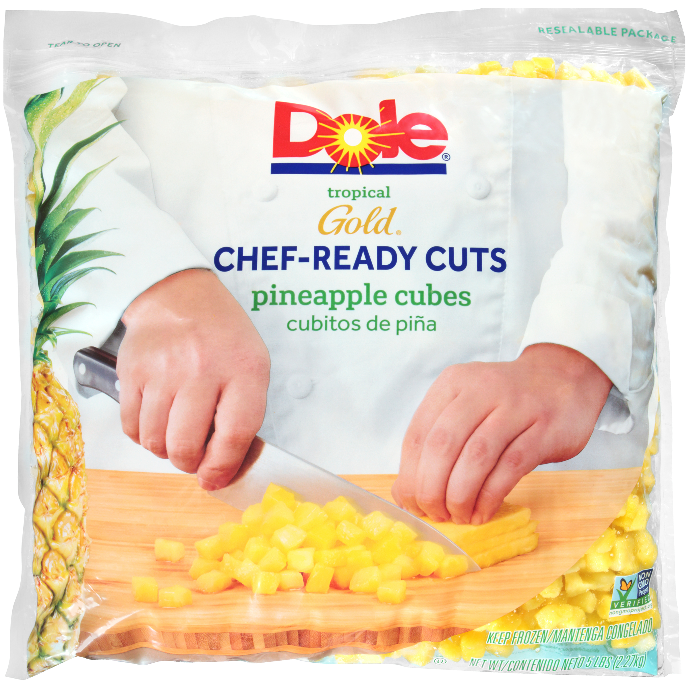 2/5# Pineapple Cubes IQF
