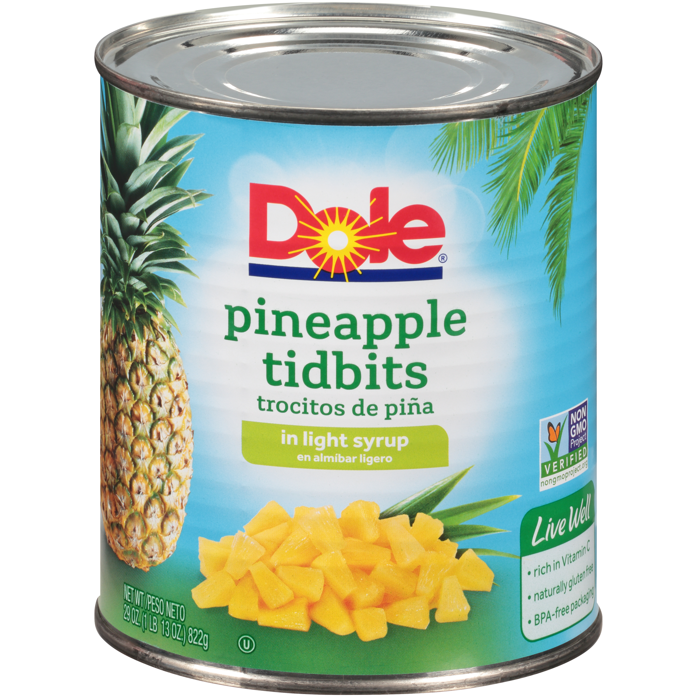 12/29 Oz. Pineapple Pizza Tidbits In Light Syrup