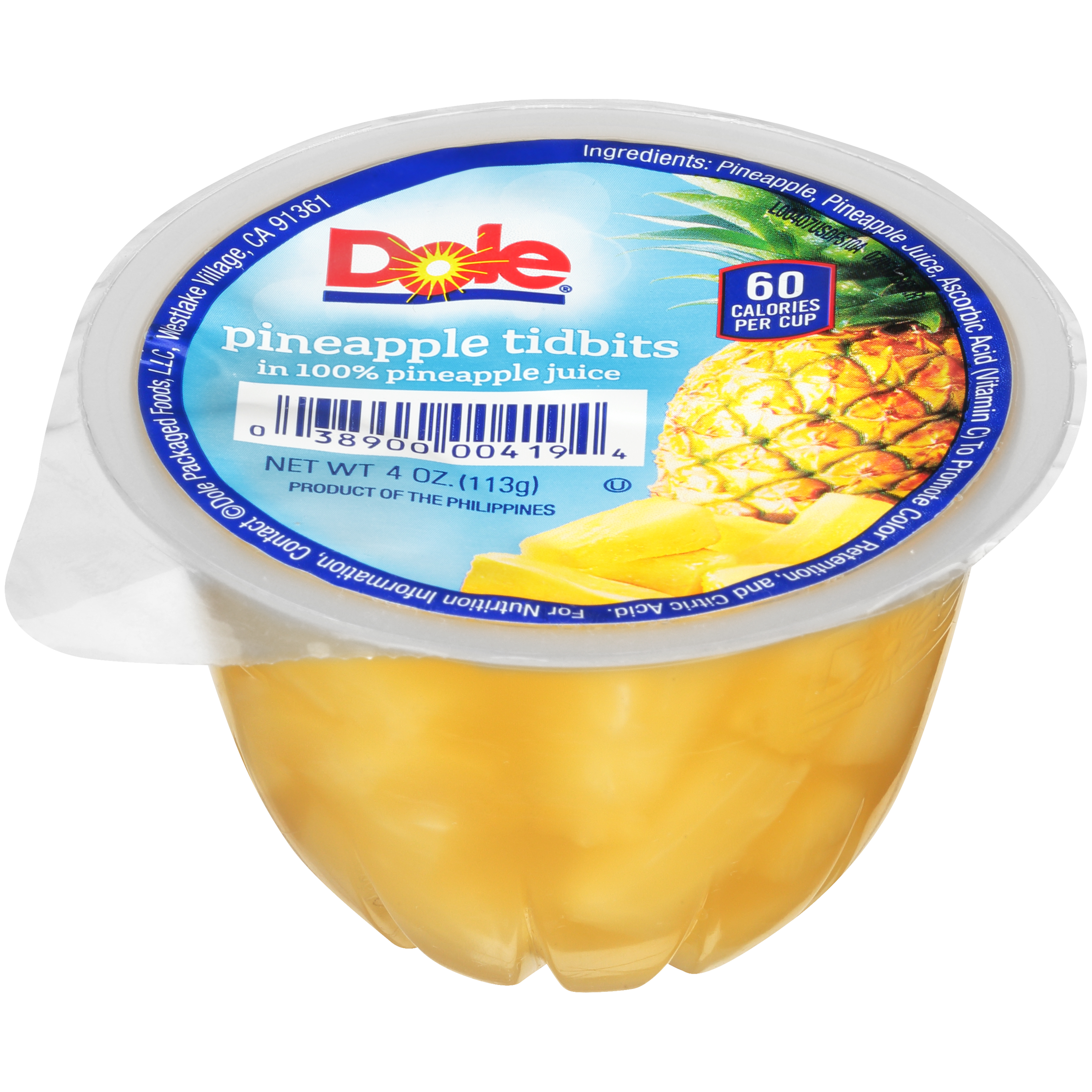 36/4 Oz. Pineapple Tidbits In Juice