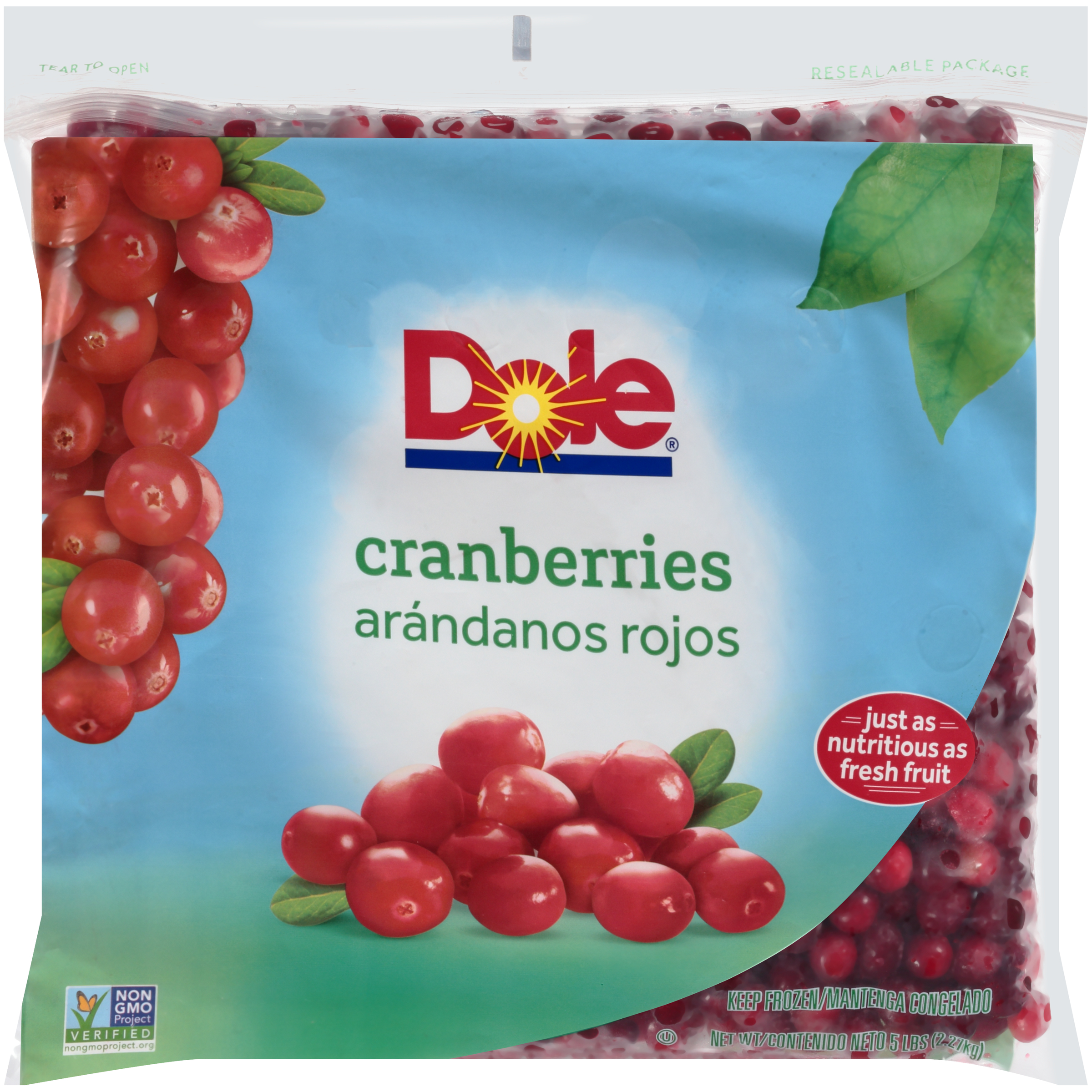 2/5# Cranberries, Whole IQF