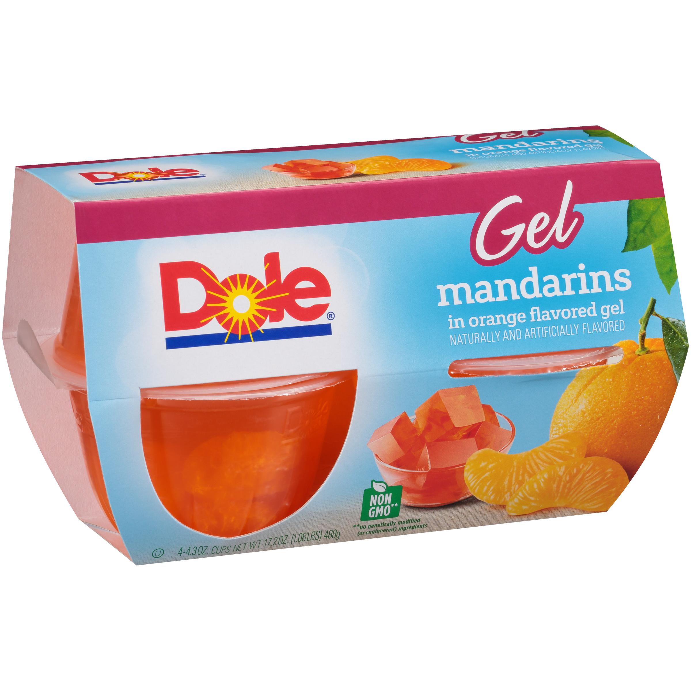 6/4 Pk/4.3 Oz. Mandarins In Orange Gel