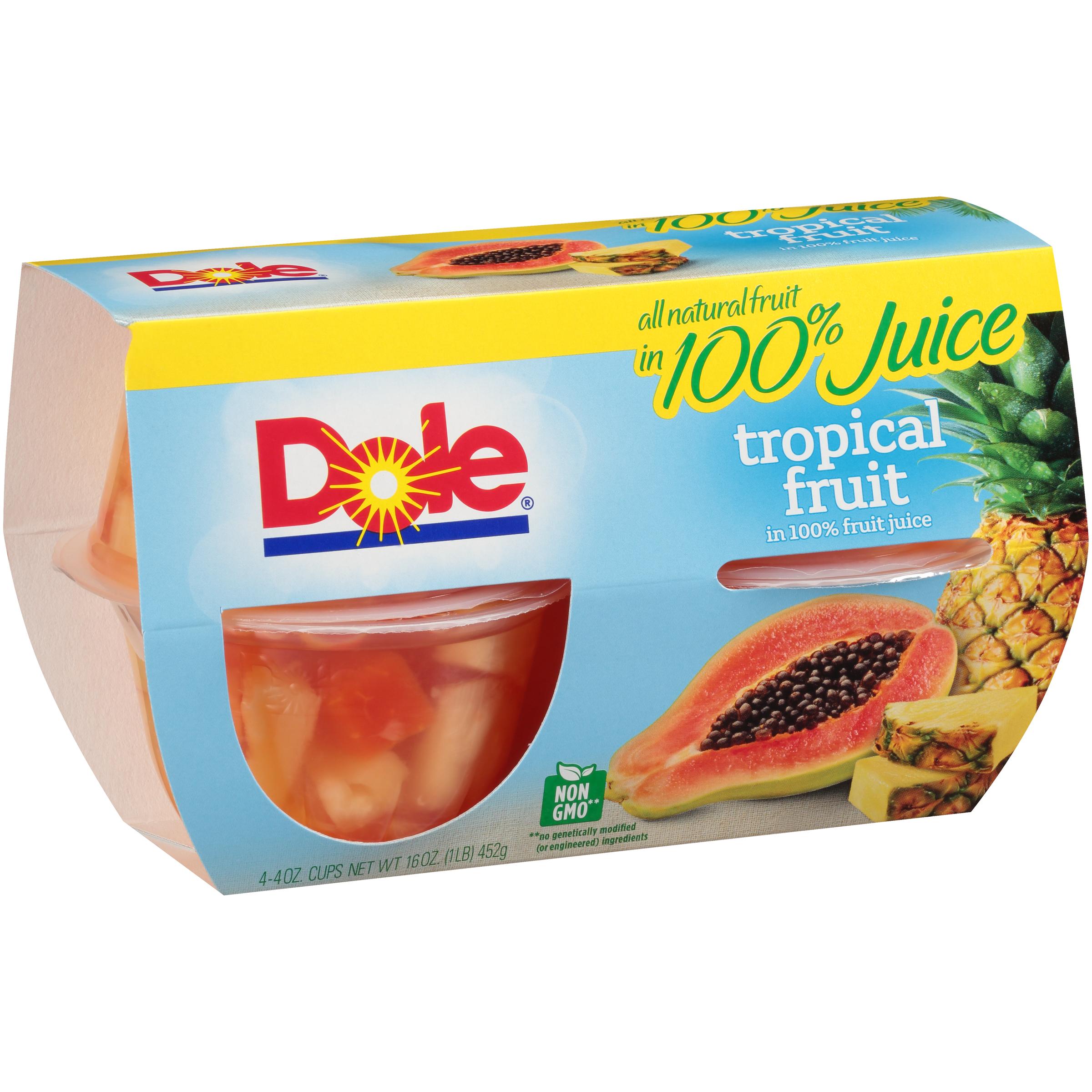 6/4 Pk/4 Oz. Tropical Fruit In Jce