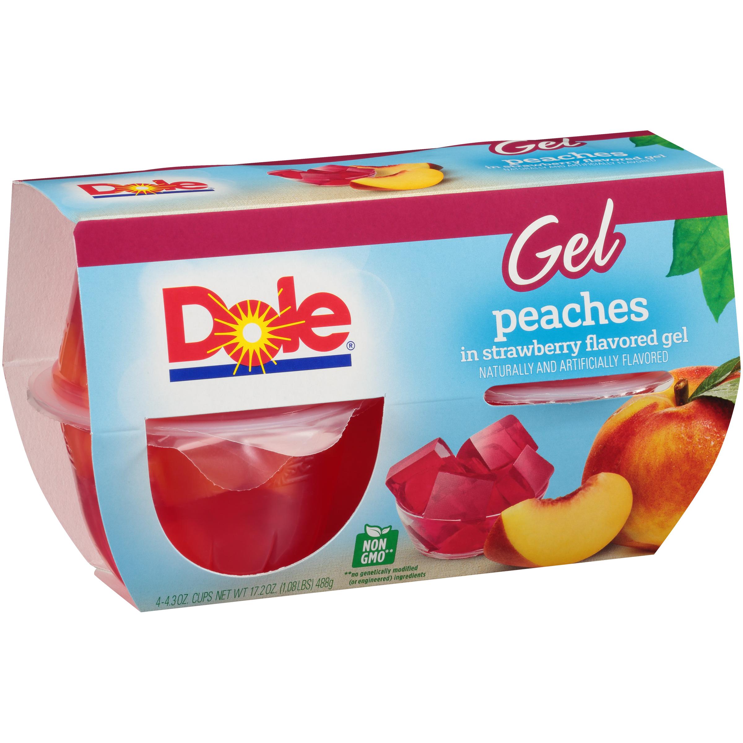 6/4 Pk/4.3 Oz. Peaches In Strawberry Gel
