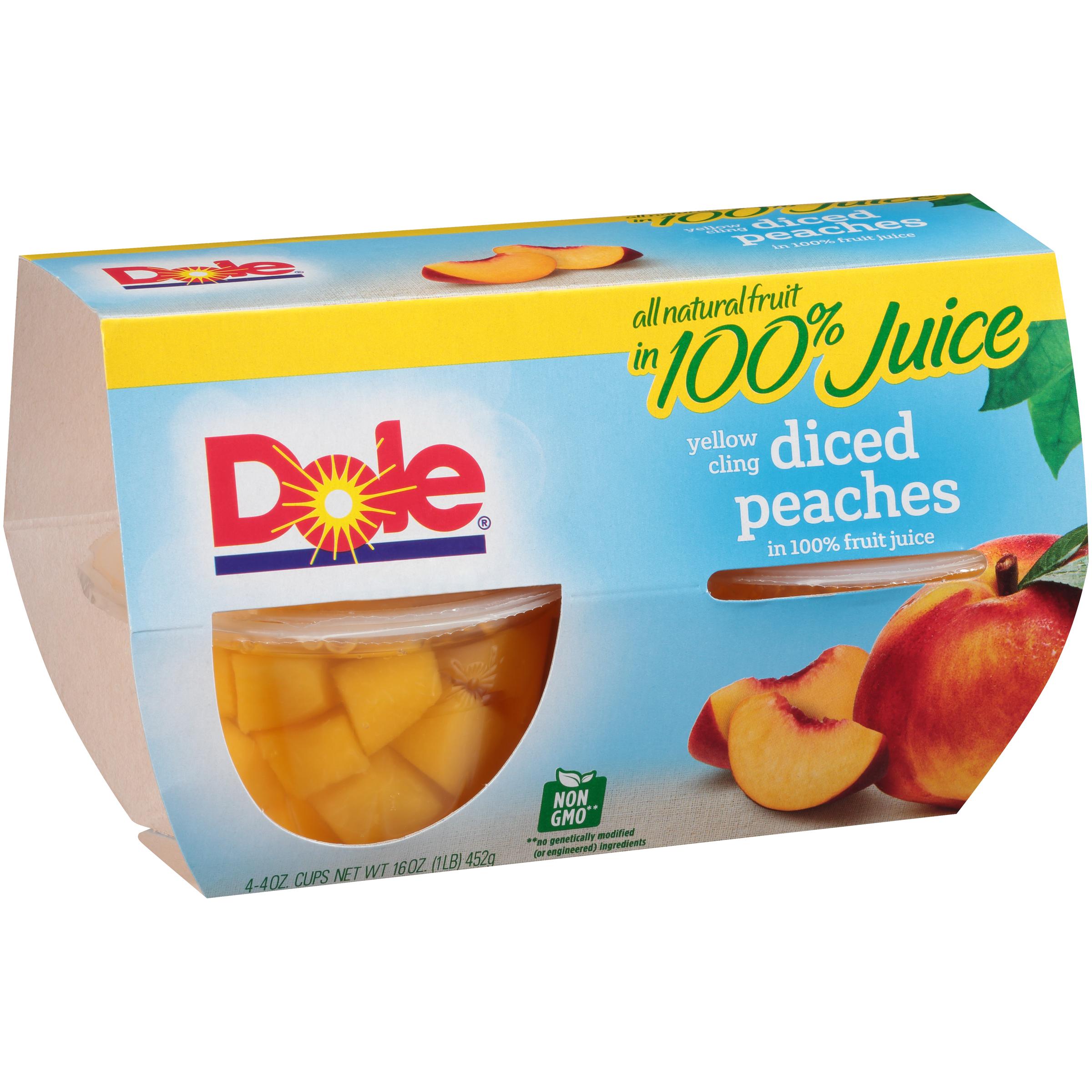 6/4 Pk/4 Oz. Diced Peaches In Jce