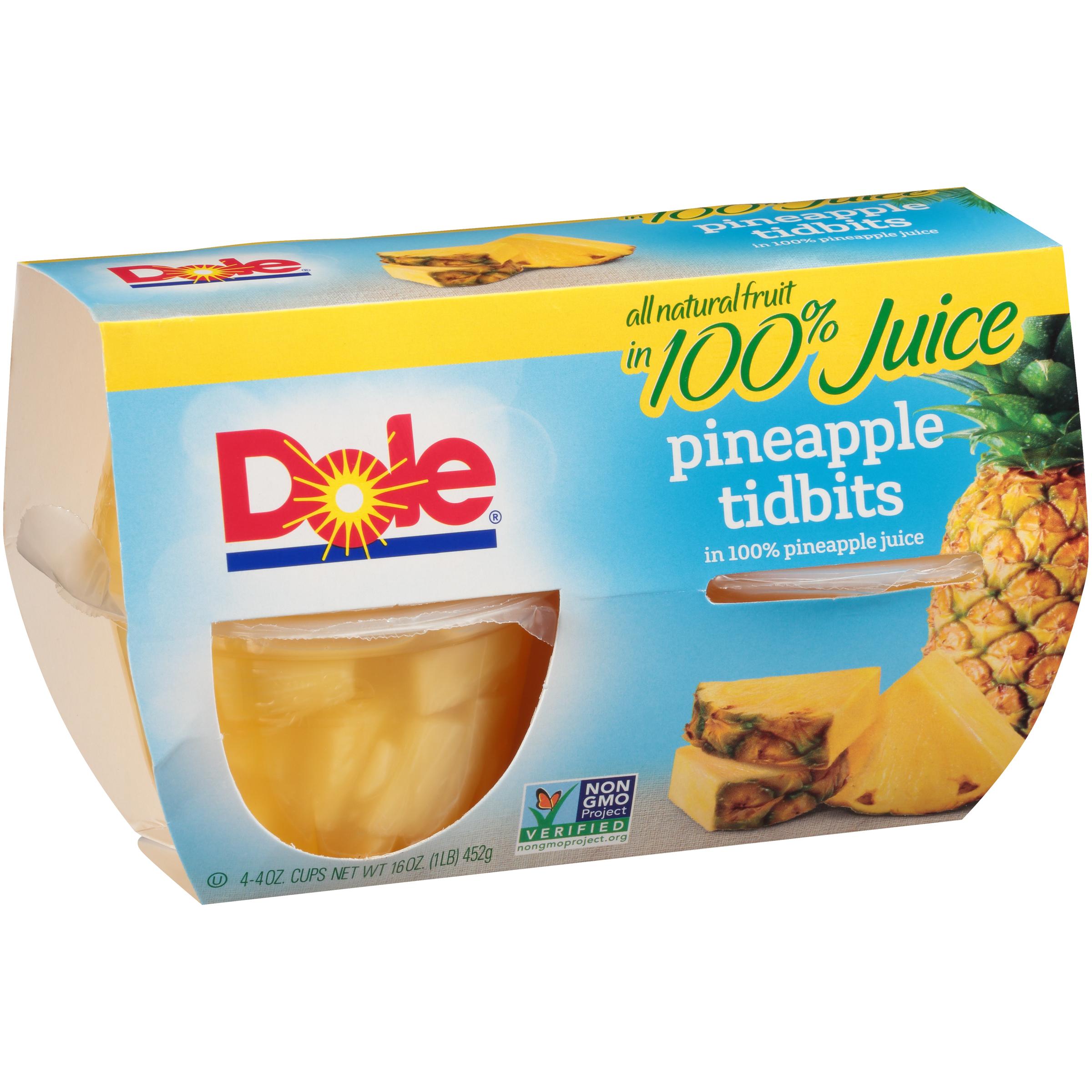 6/4 Pk/4 Oz. Pineapple Tidbits In Jce