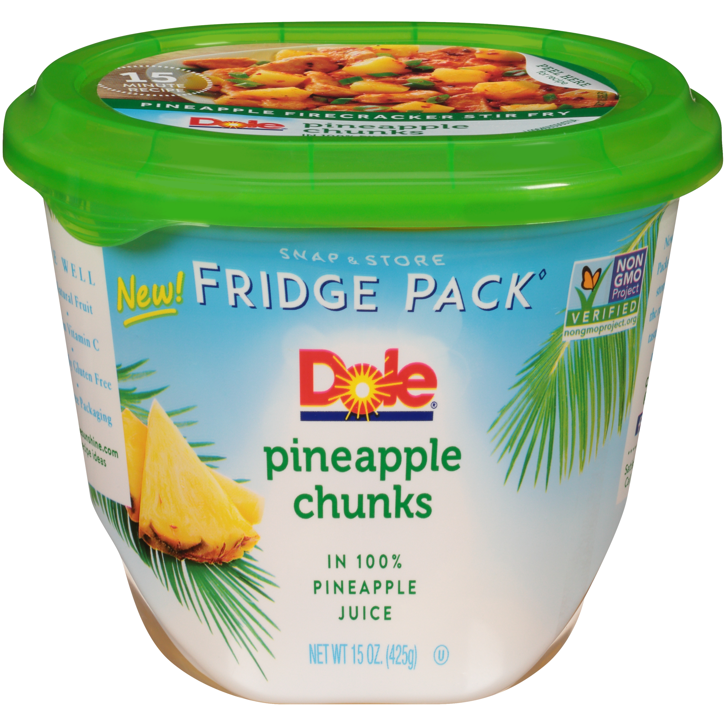 8/15 Oz Pineapple Chunks In 100% Juice