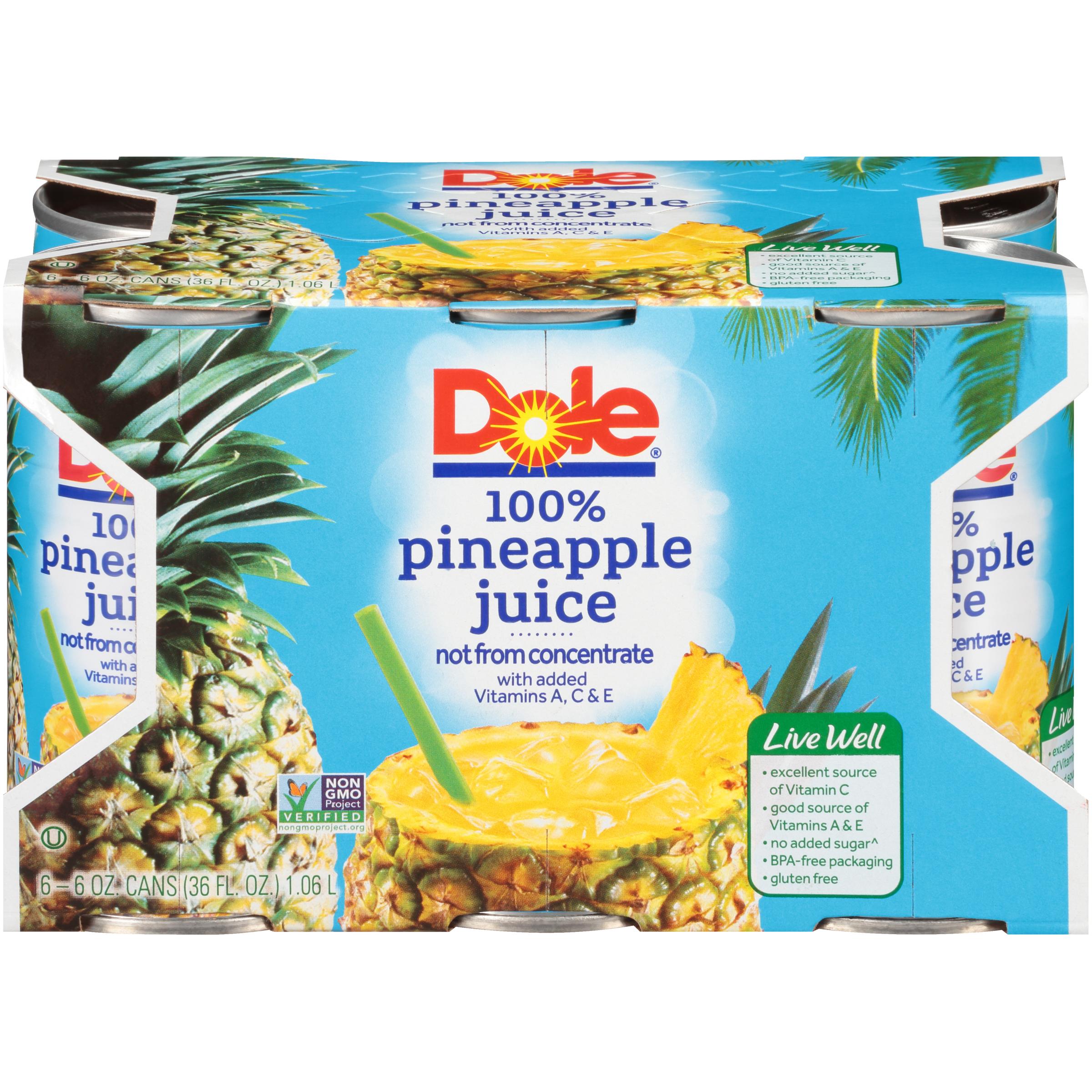 8/6 Pk/6 Oz. Pineapple Juice