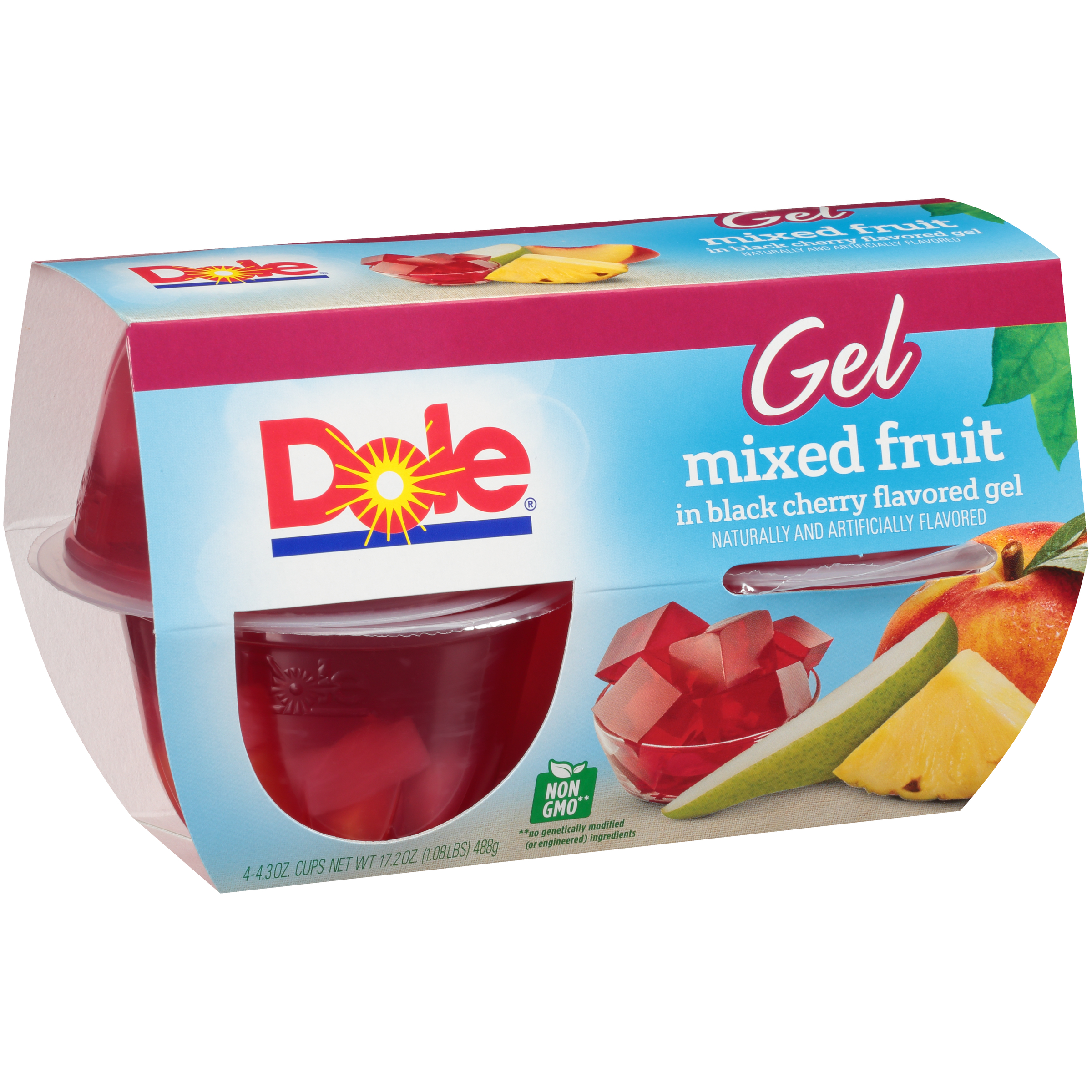 6/4 Pk/4.3 Oz. Mixed Fruit In Black Cherry Gel