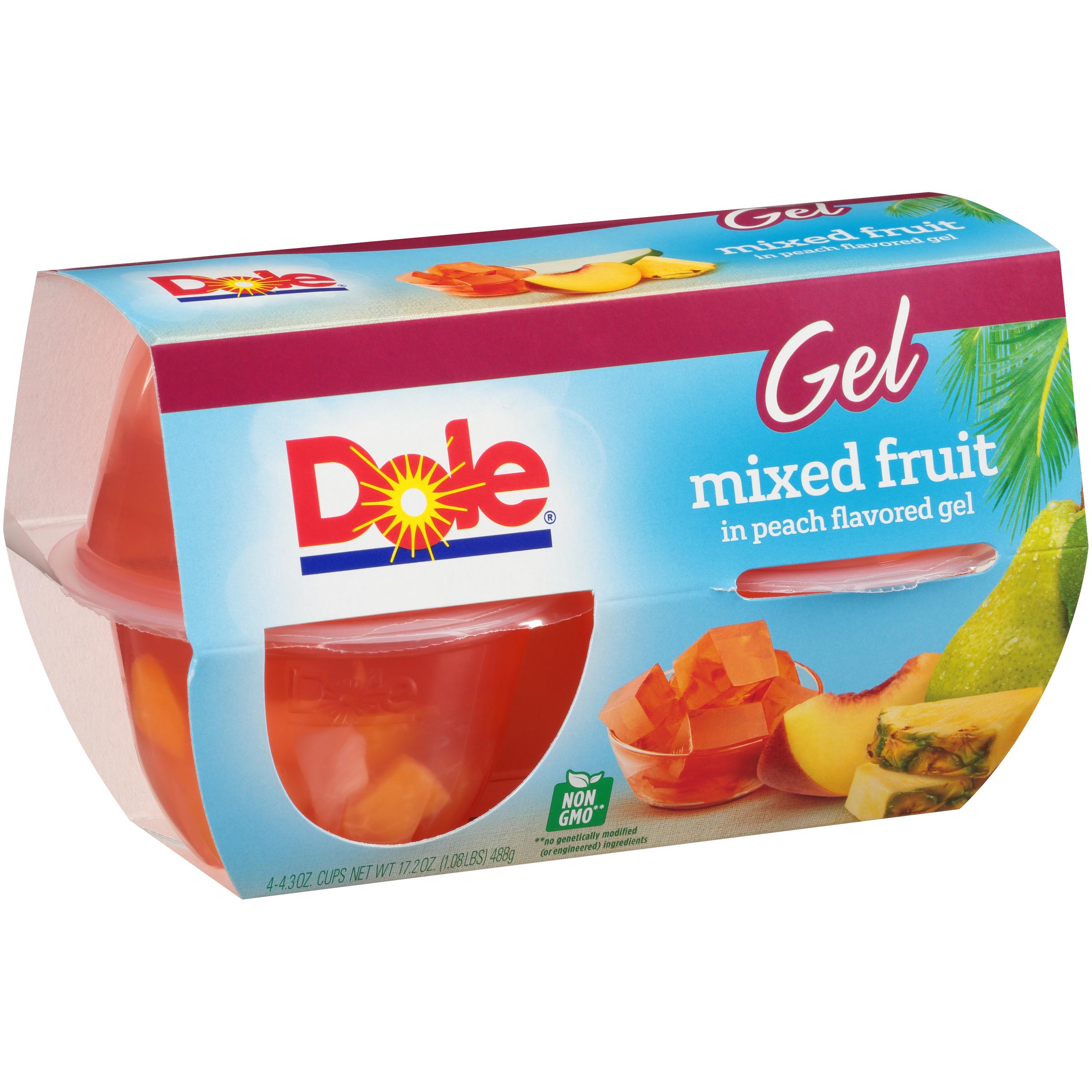 6/4 Pk/4.3 Oz. Mixed Fruit In Peach Gel