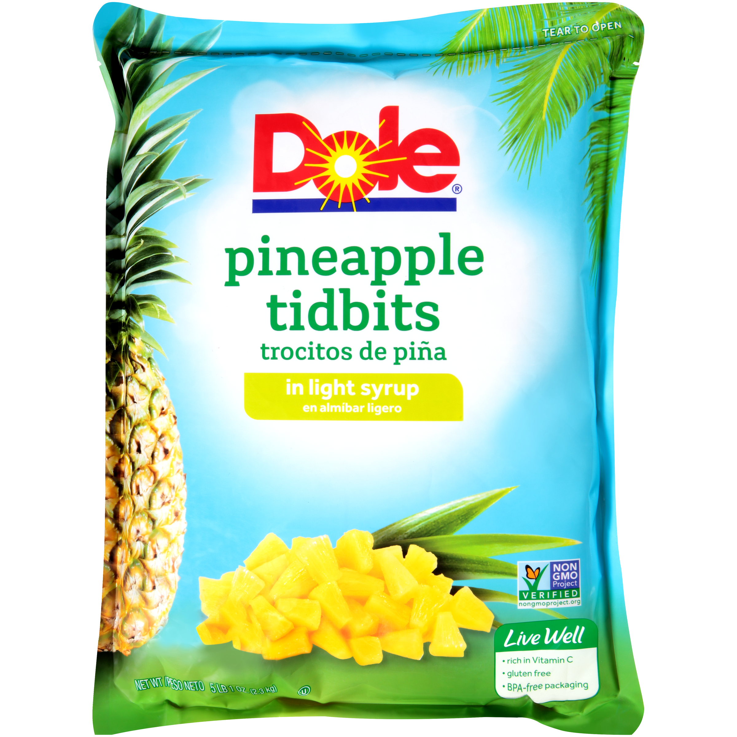 6/81 Oz. Pineapple Tidbits In Light Syrup